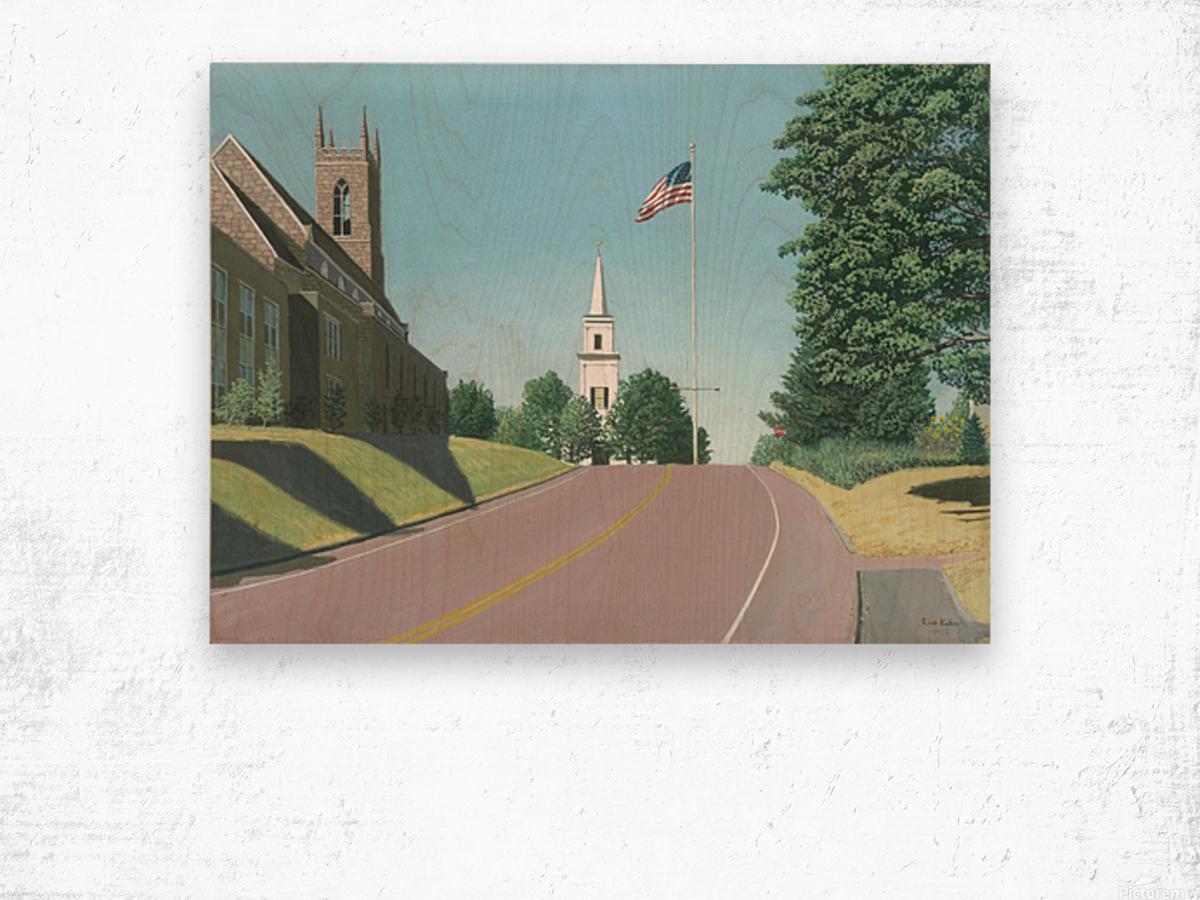 Church Hill Road - Newtown Scenes 16X20 Wood print