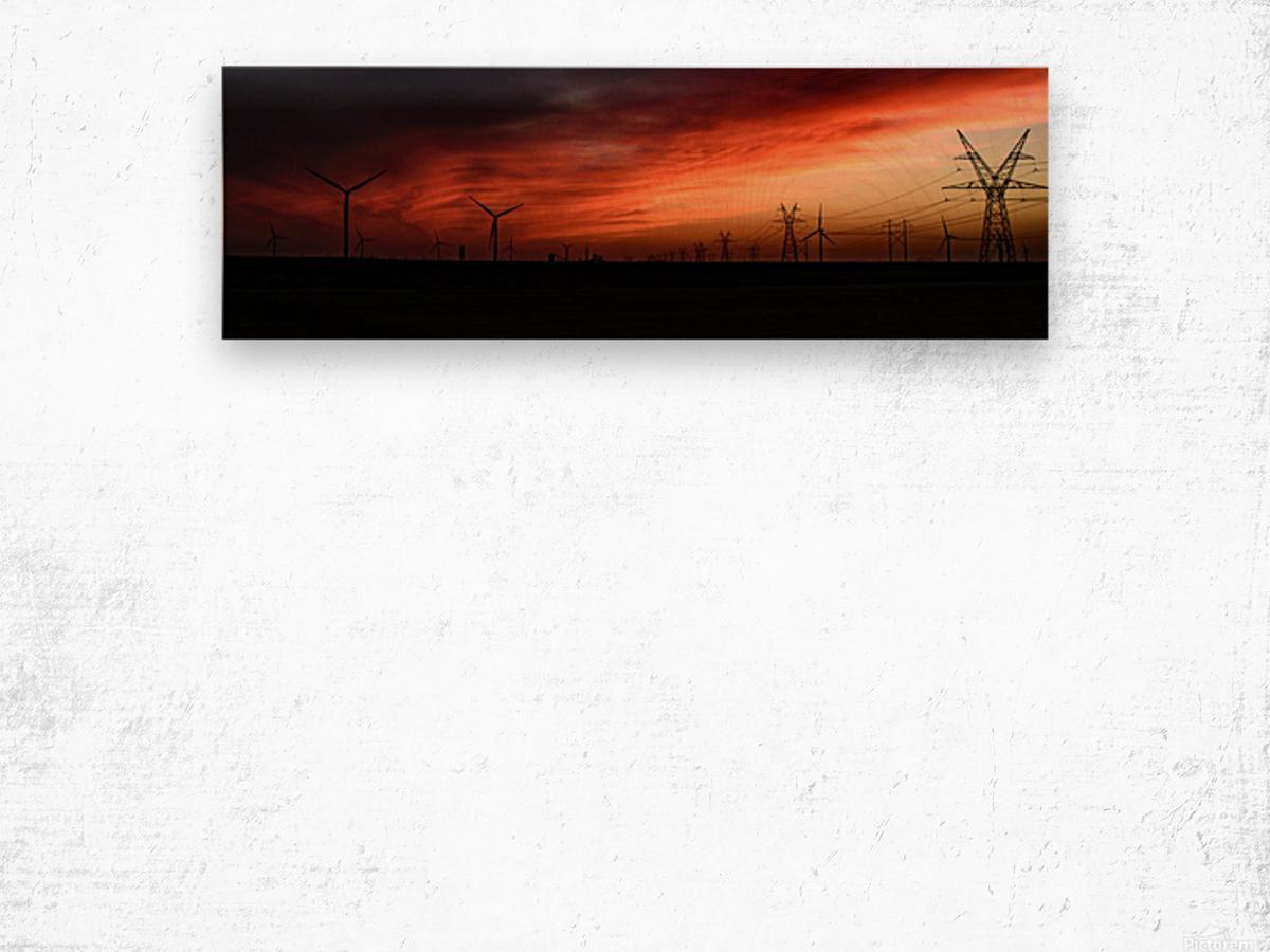 Texas Smoke Wood print