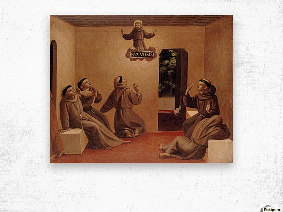 Apparition of St. Francis at Arles Wood print