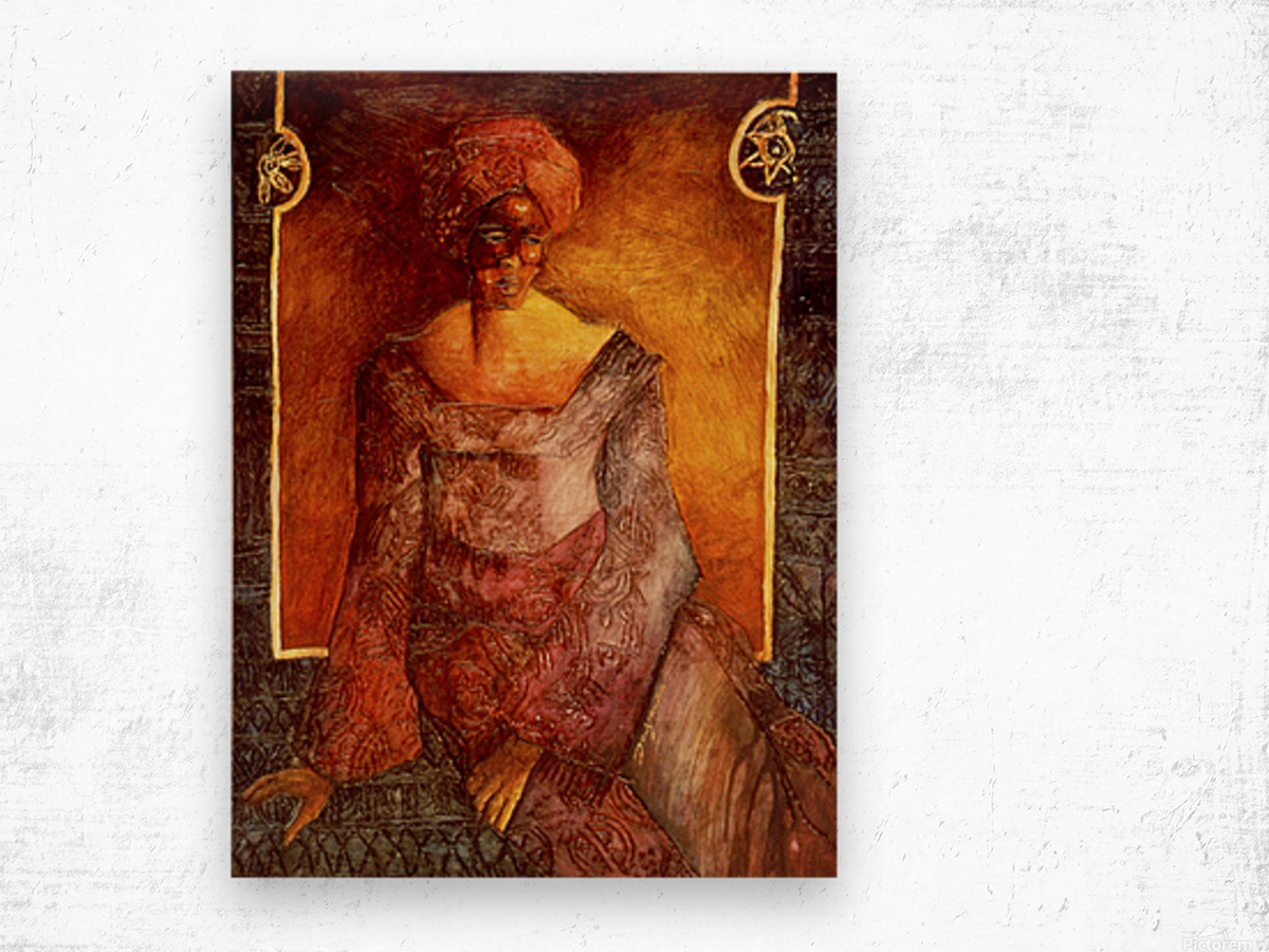 Femme Africaine Wood print