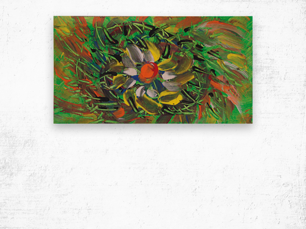 savage flower meadow abstraction Wood print
