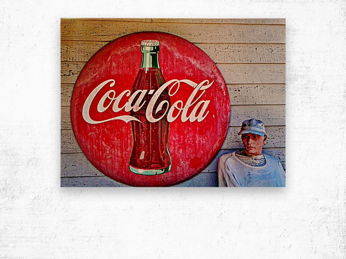 Coke   Wood print