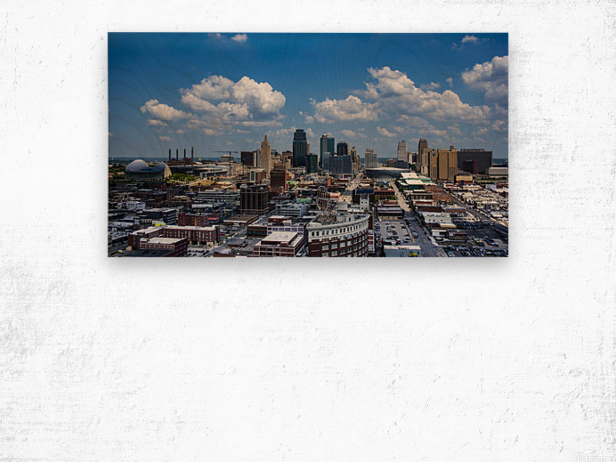 Kansas City Skyline 1 Wood print