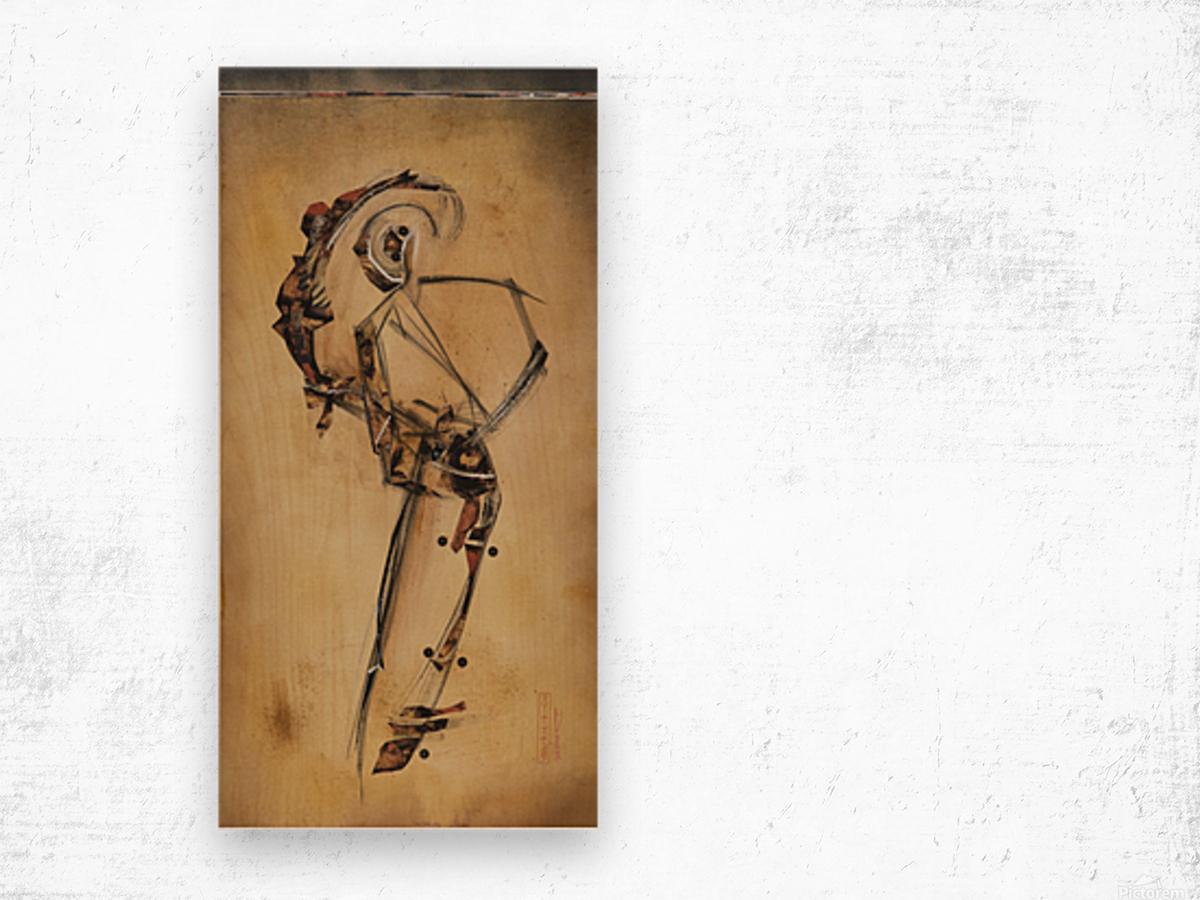 Japanese woman2 Wood print