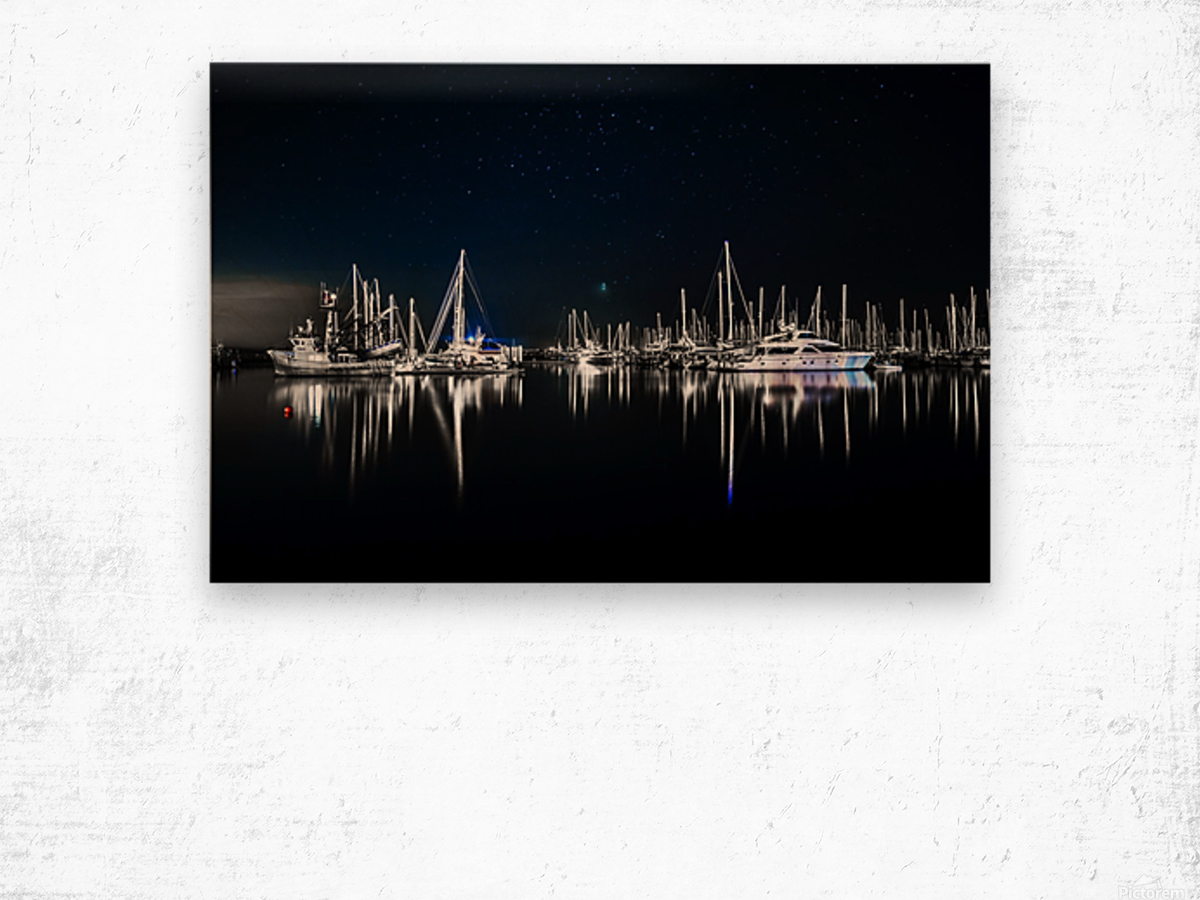 Midnight Stillness Wood print