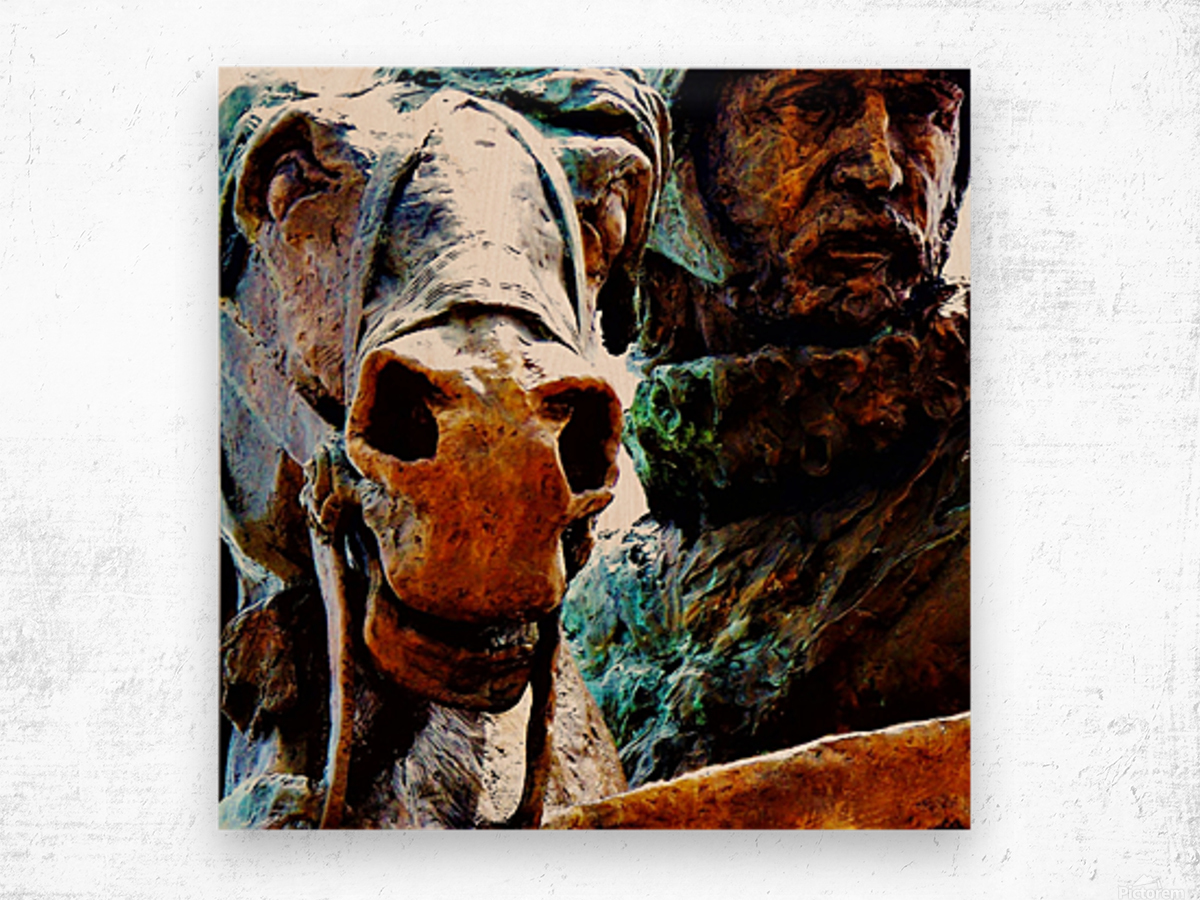 Face to Face Wood print