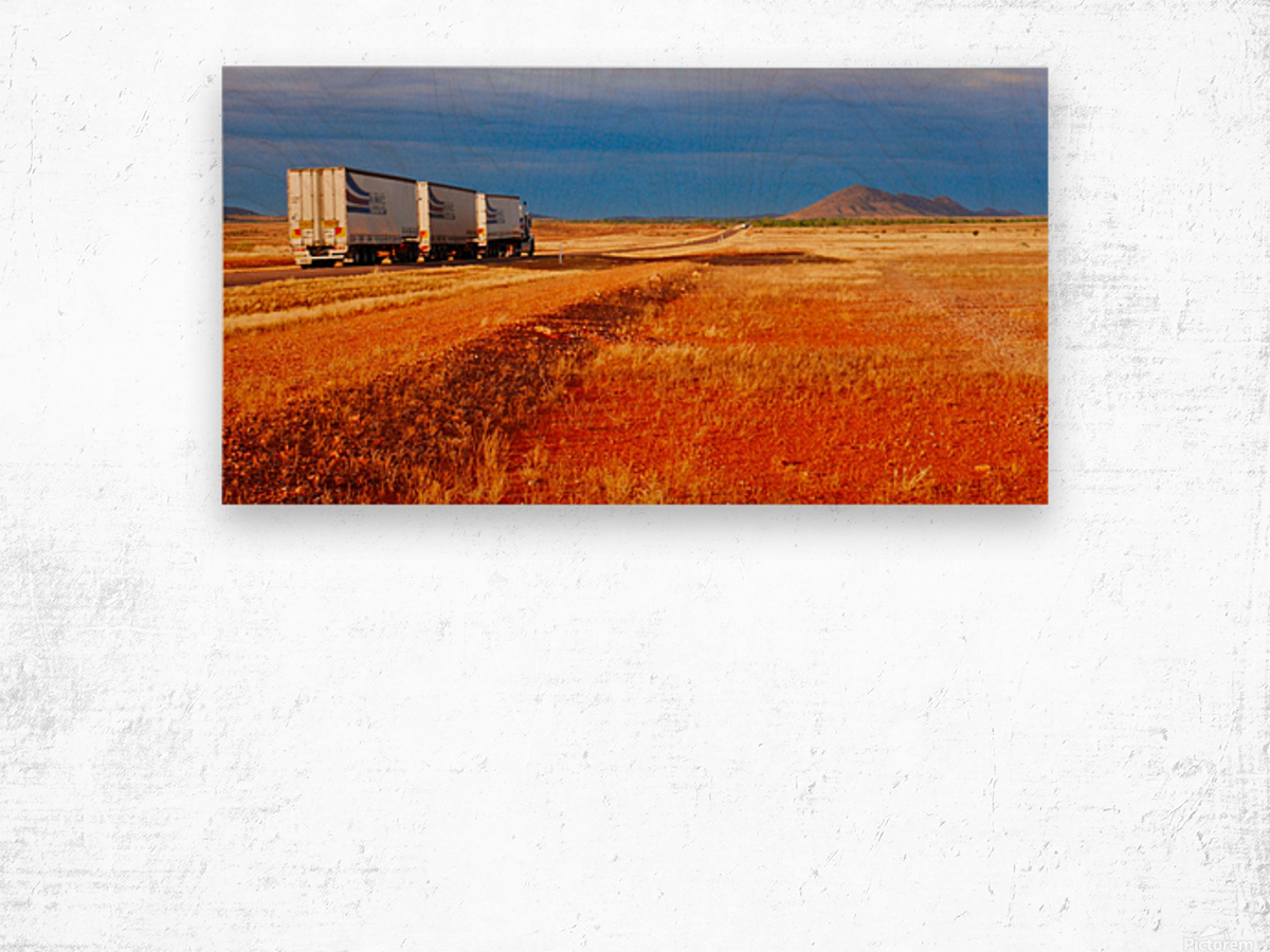 Road Train to Somewhere Wood print