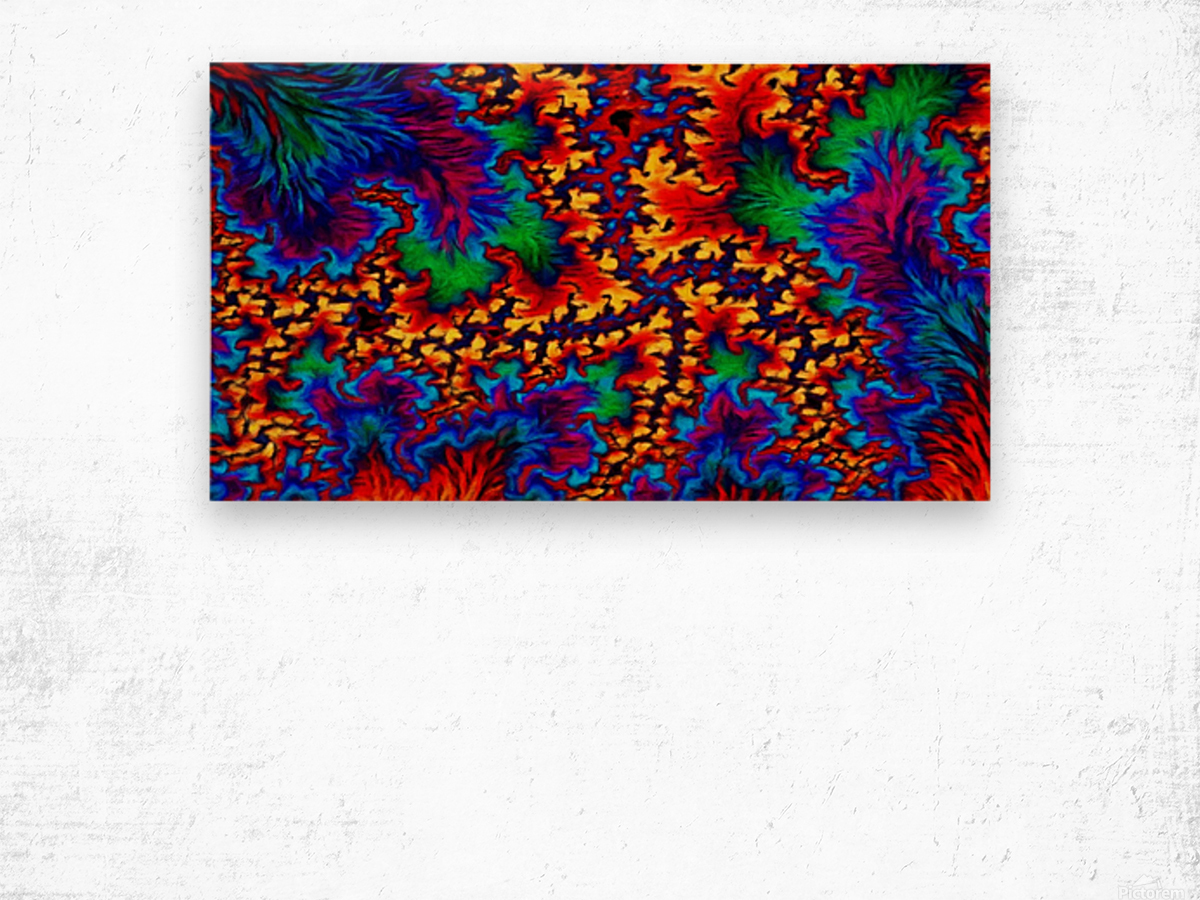 Hot Red Tropic Wood print