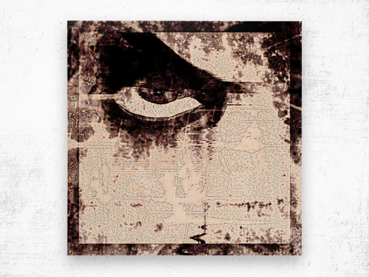 Modern Eye Emboss Wood print
