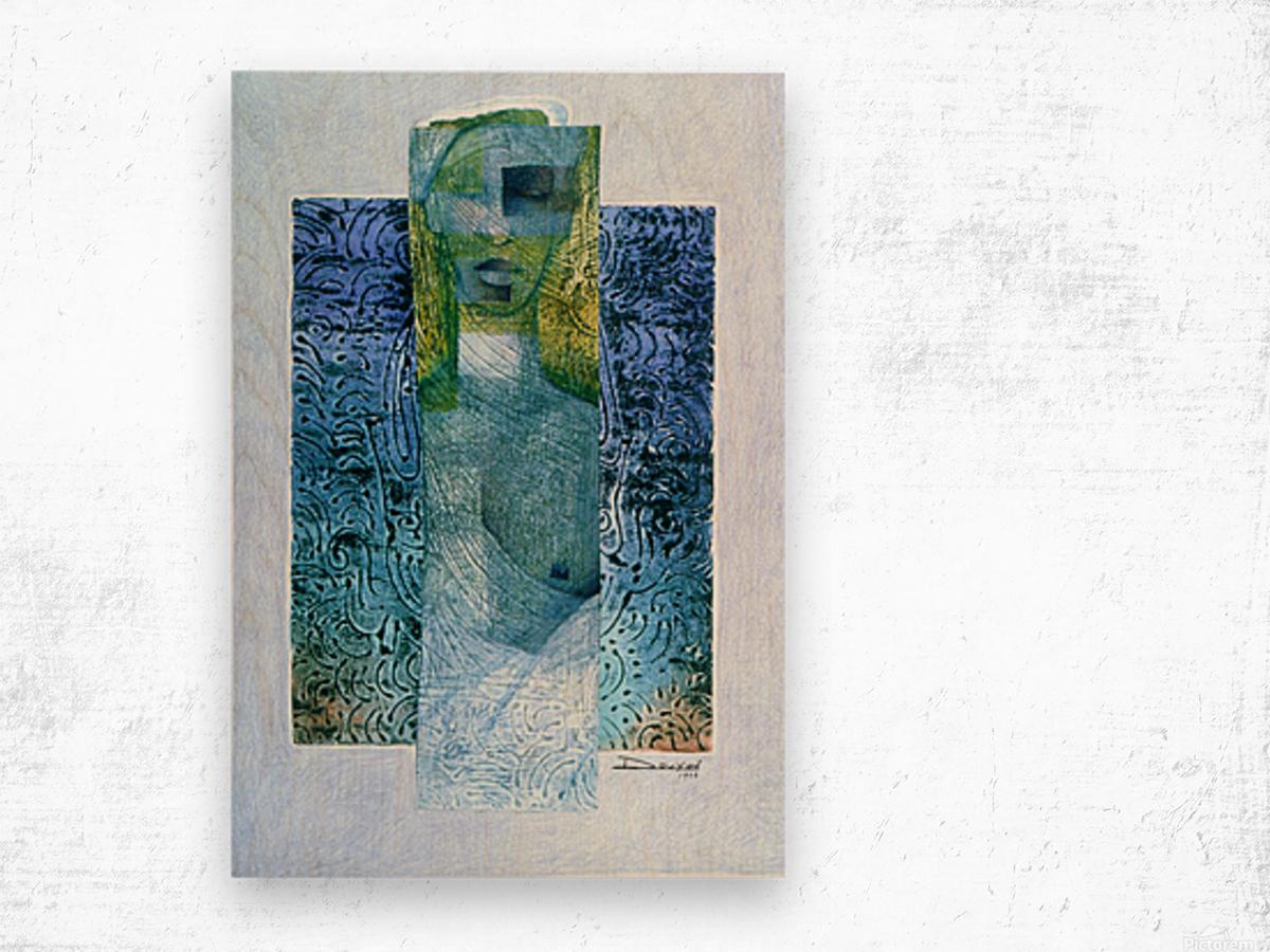 masque de lamour Wood print