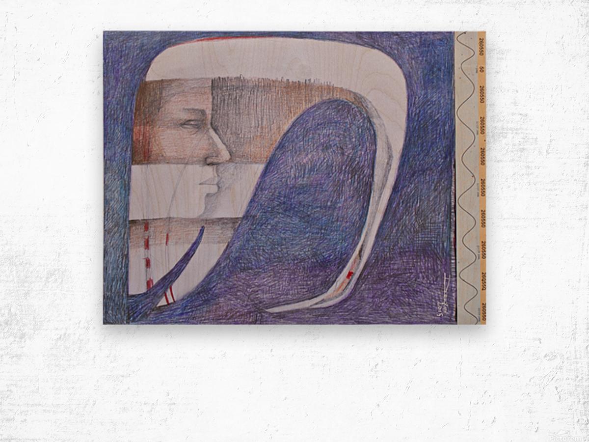 whiteswan and man Wood print