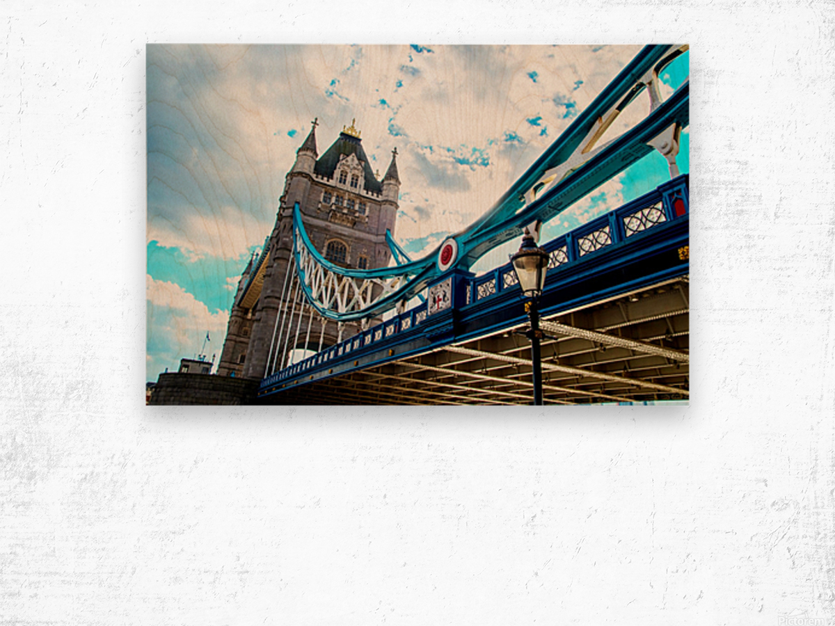 The Might of Tower Bridge Wood print