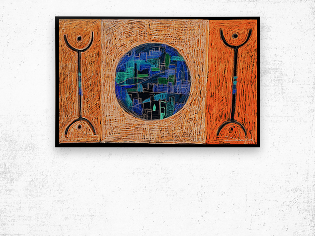 free man1 Wood print