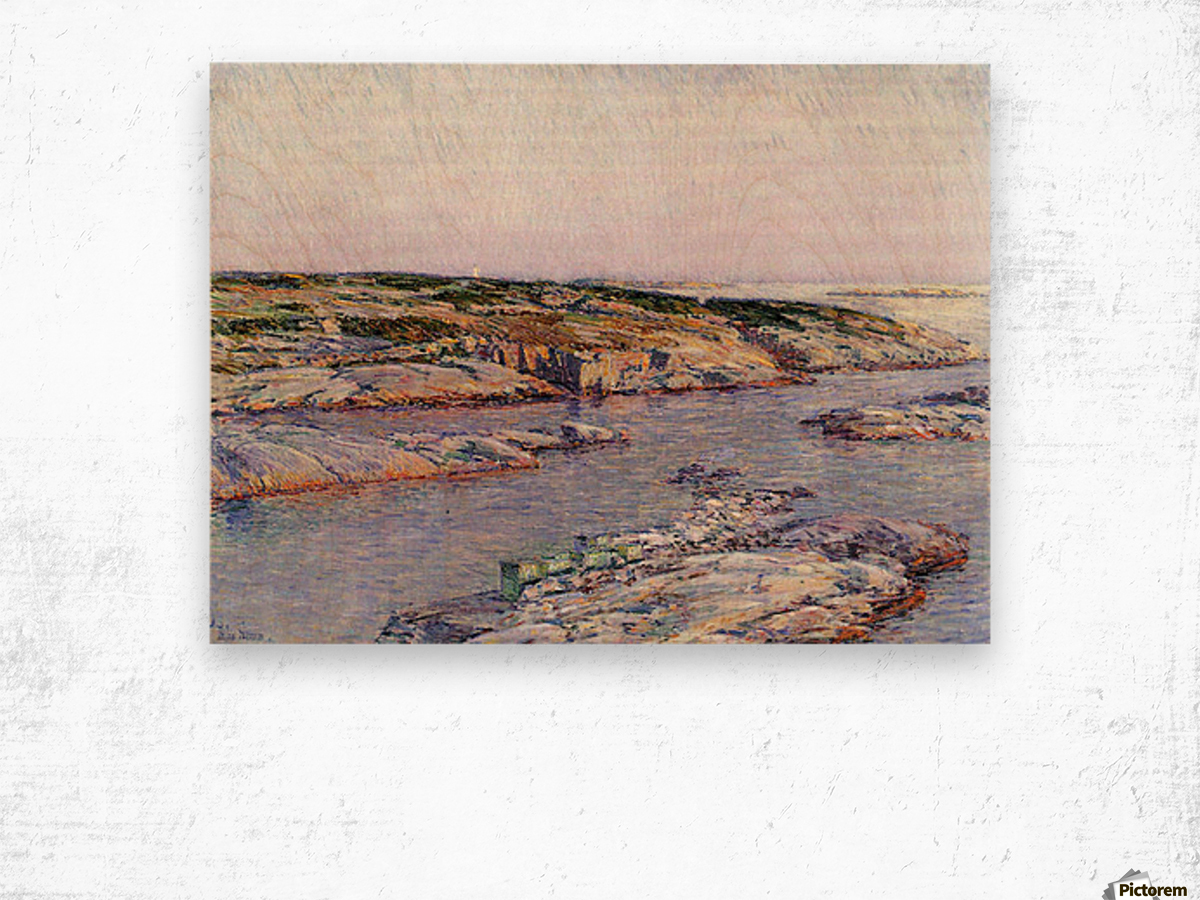 Summer afternoon, the Isles of Shoals by Hassam Wood print
