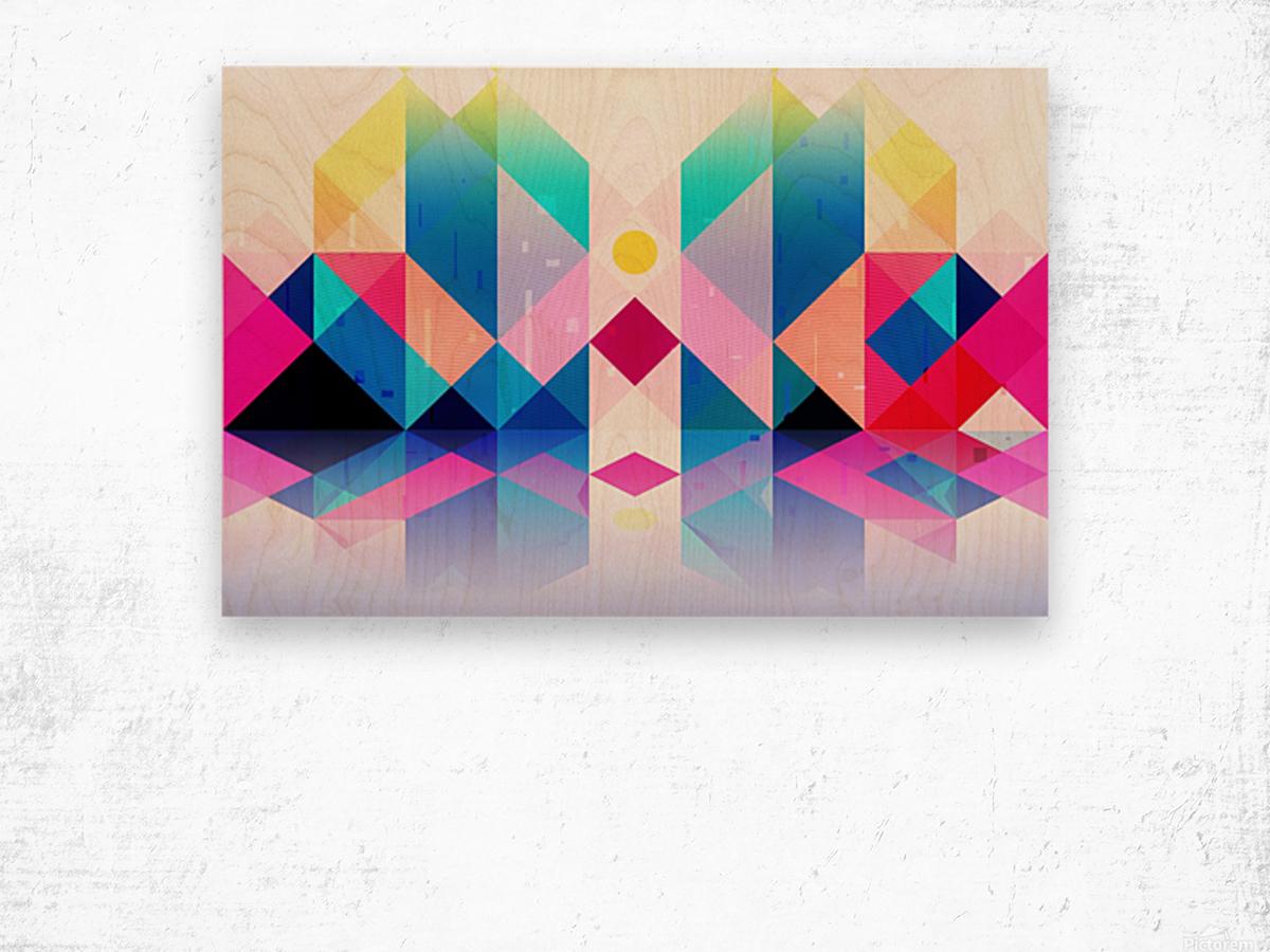 Geometric XXXXXV Wood print
