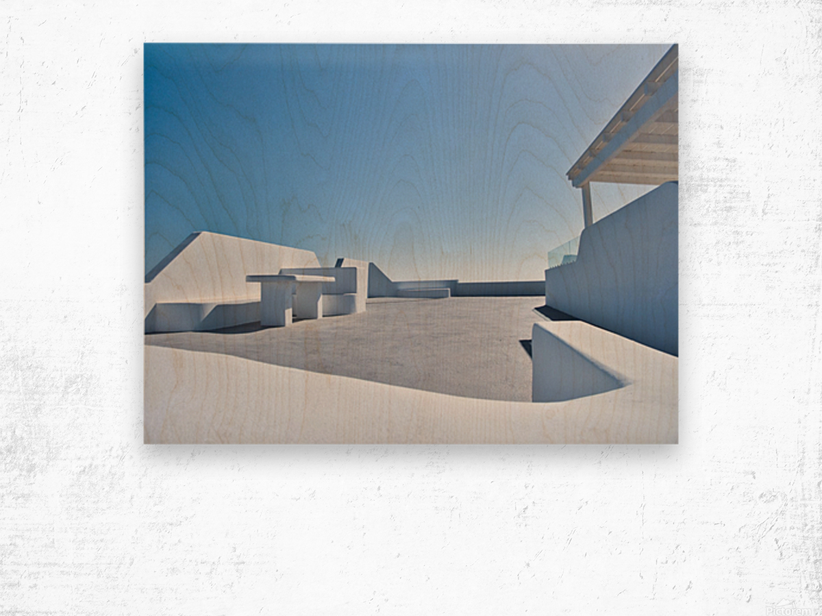 Cyclades White Architecture Design Wood print