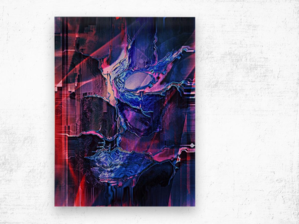 Blue Portrait Wood print
