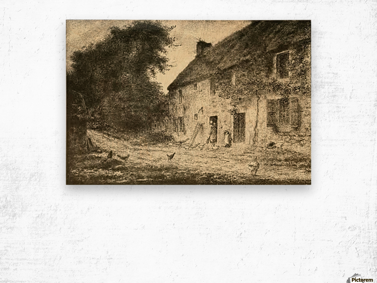 Birthplace house Wood print