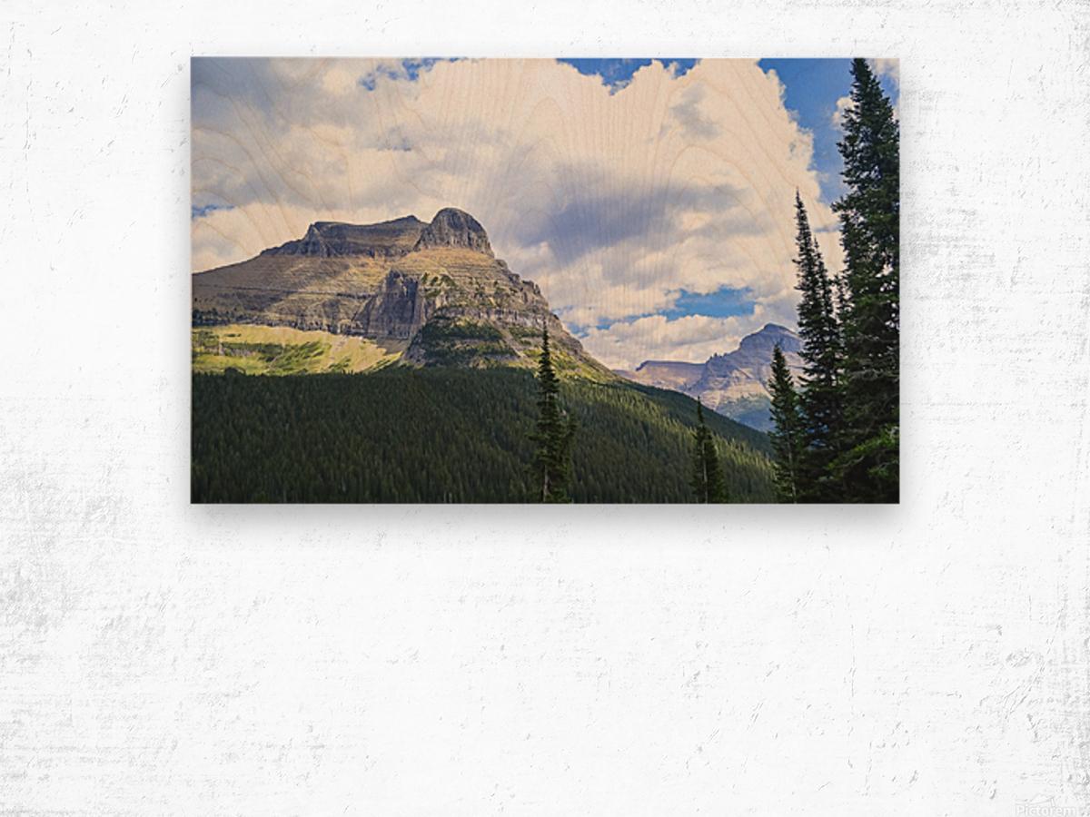 Going to the Sun Mountain Wood print