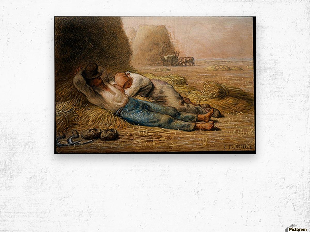 Sleeping peasants Wood print