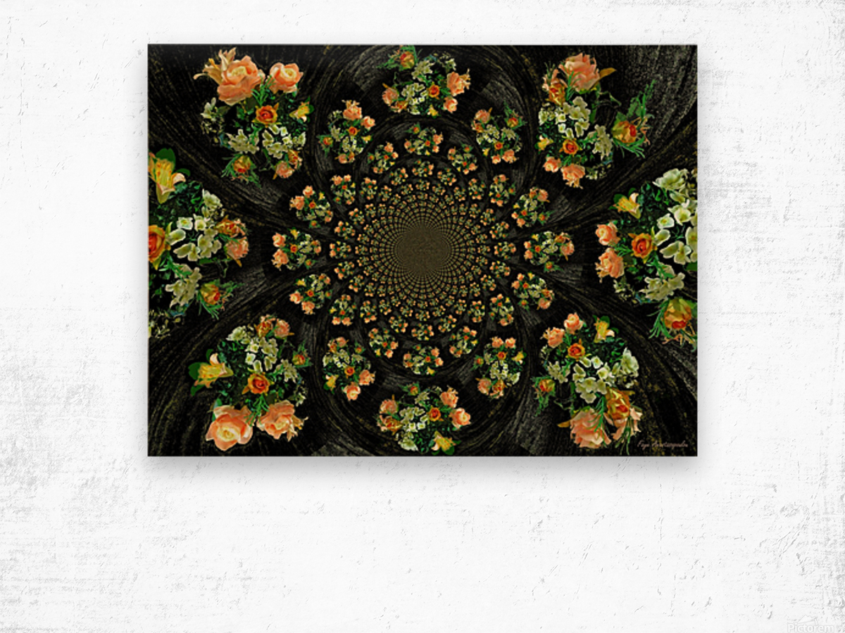 Floral Creation Wood print