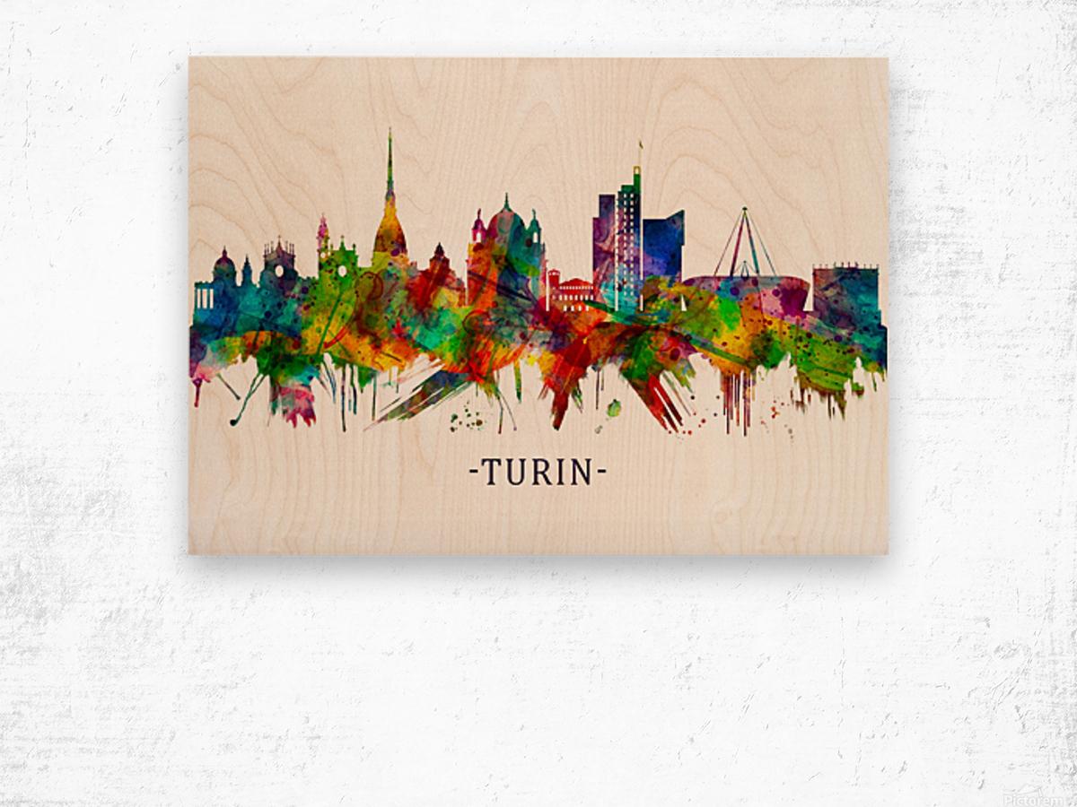 Turin Italy Skyline Wood print