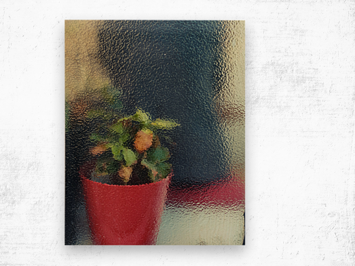 Flowers painting  Wood print