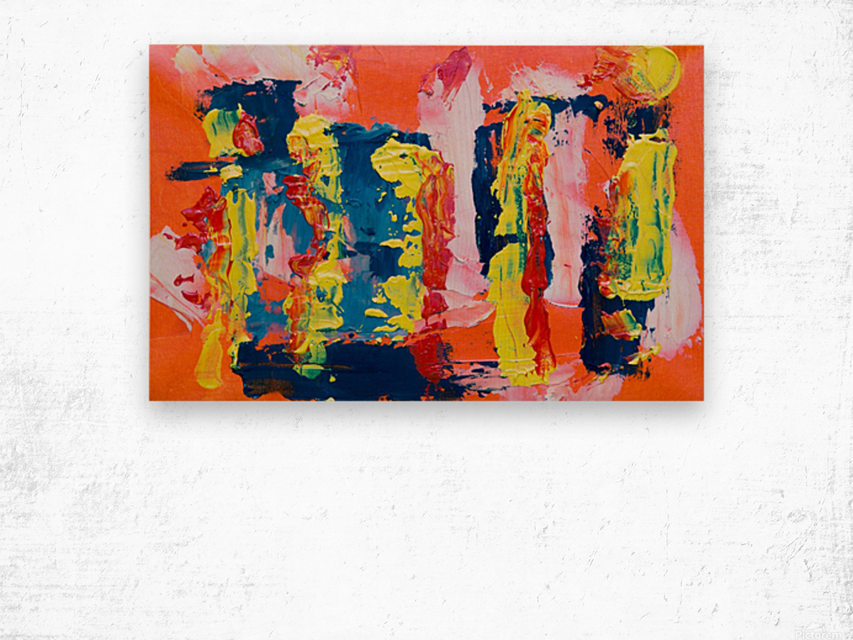 Abstract painting Wood print