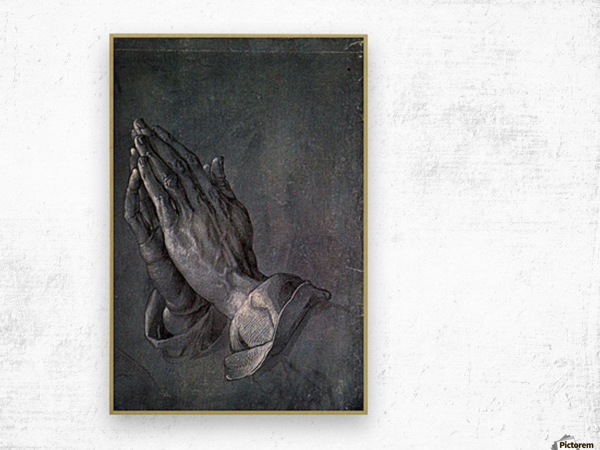 Hands of an Apostle Wood print