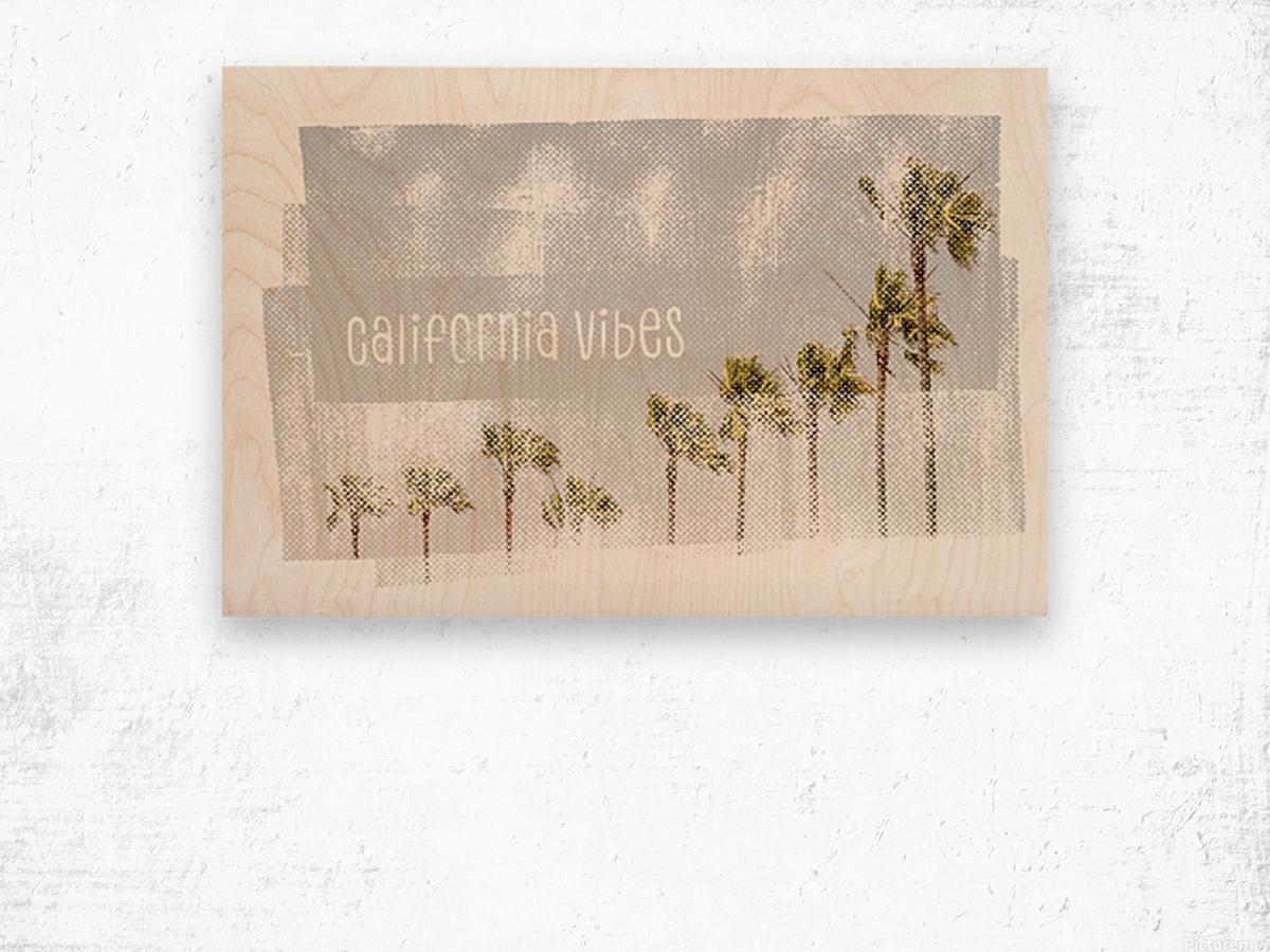 California Vibes   Vintage Wood print