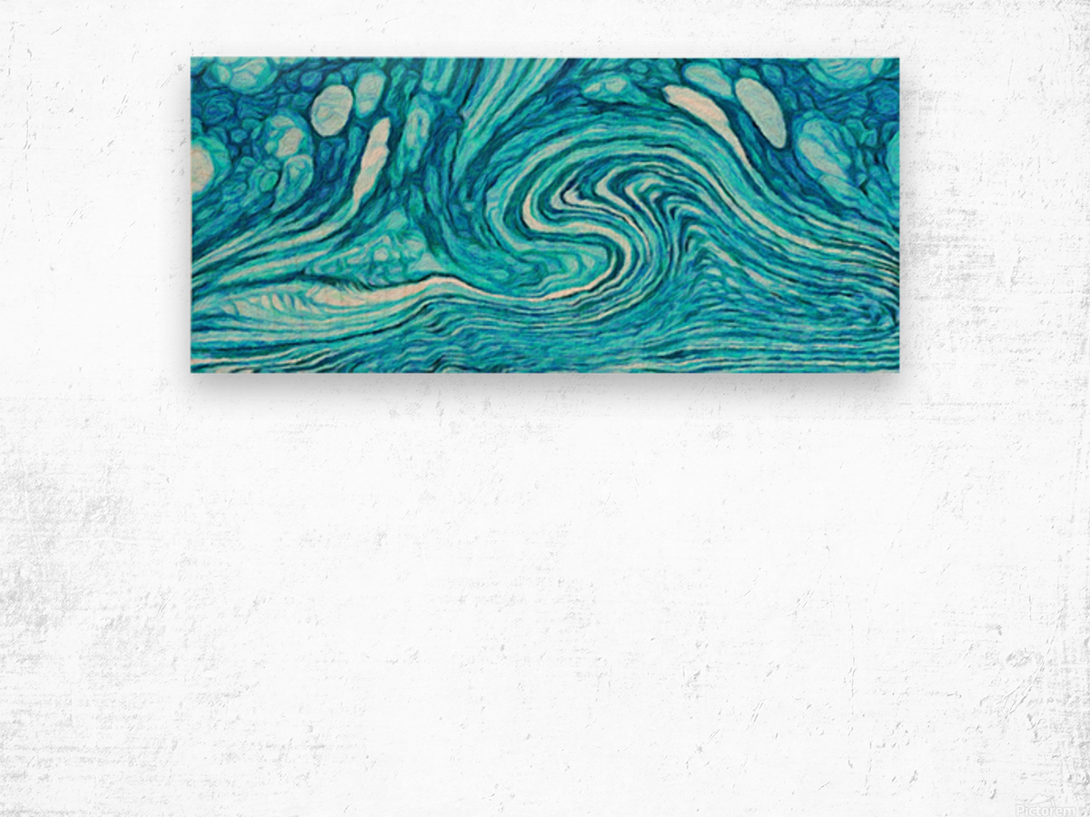 Wave DAY Wood print