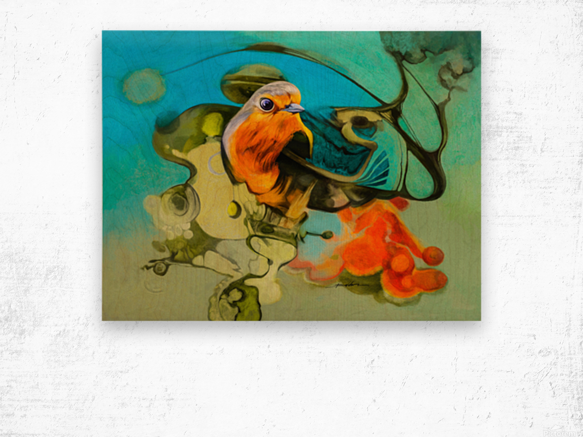 Bird of the nest Wood print