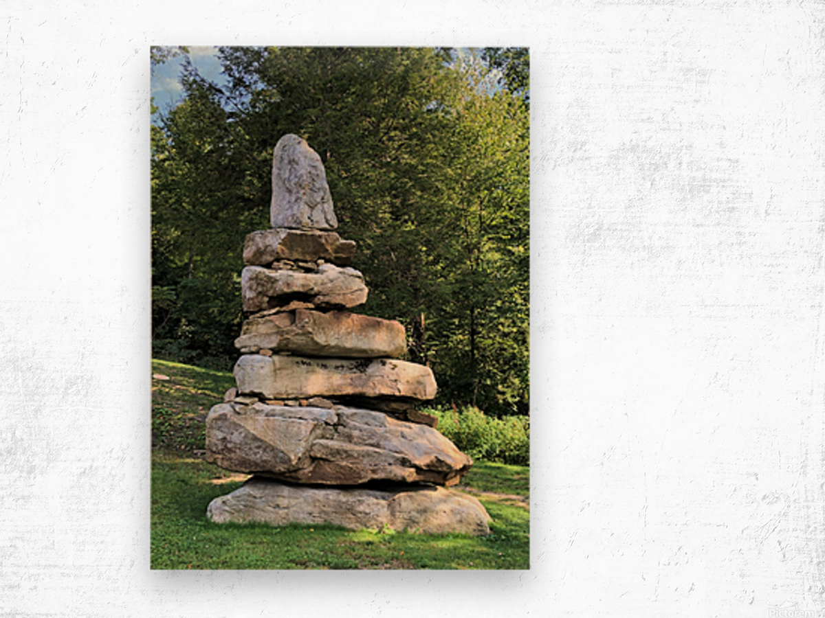 Stacked Stones Wood print
