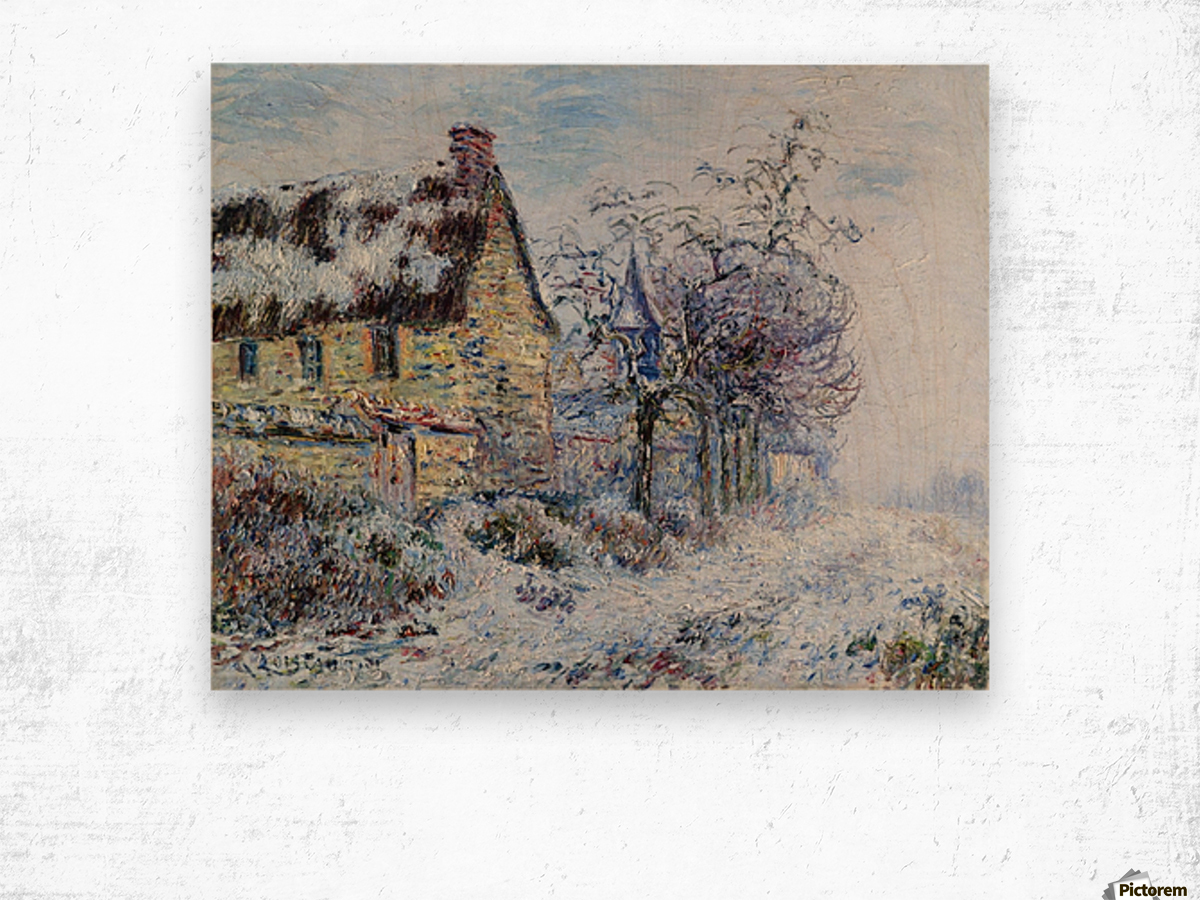 Snow Effect at Porte-Joie Wood print