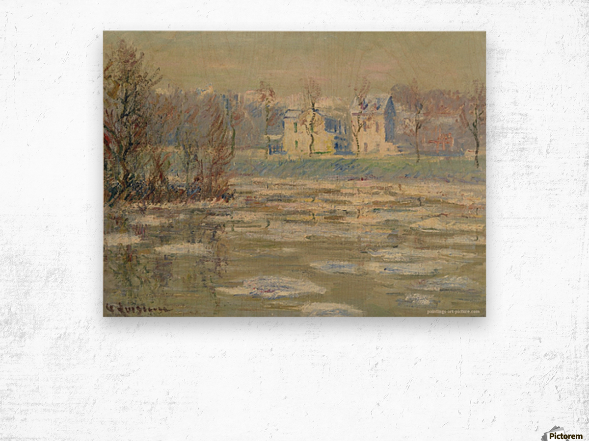 The Oise at Winter Wood print