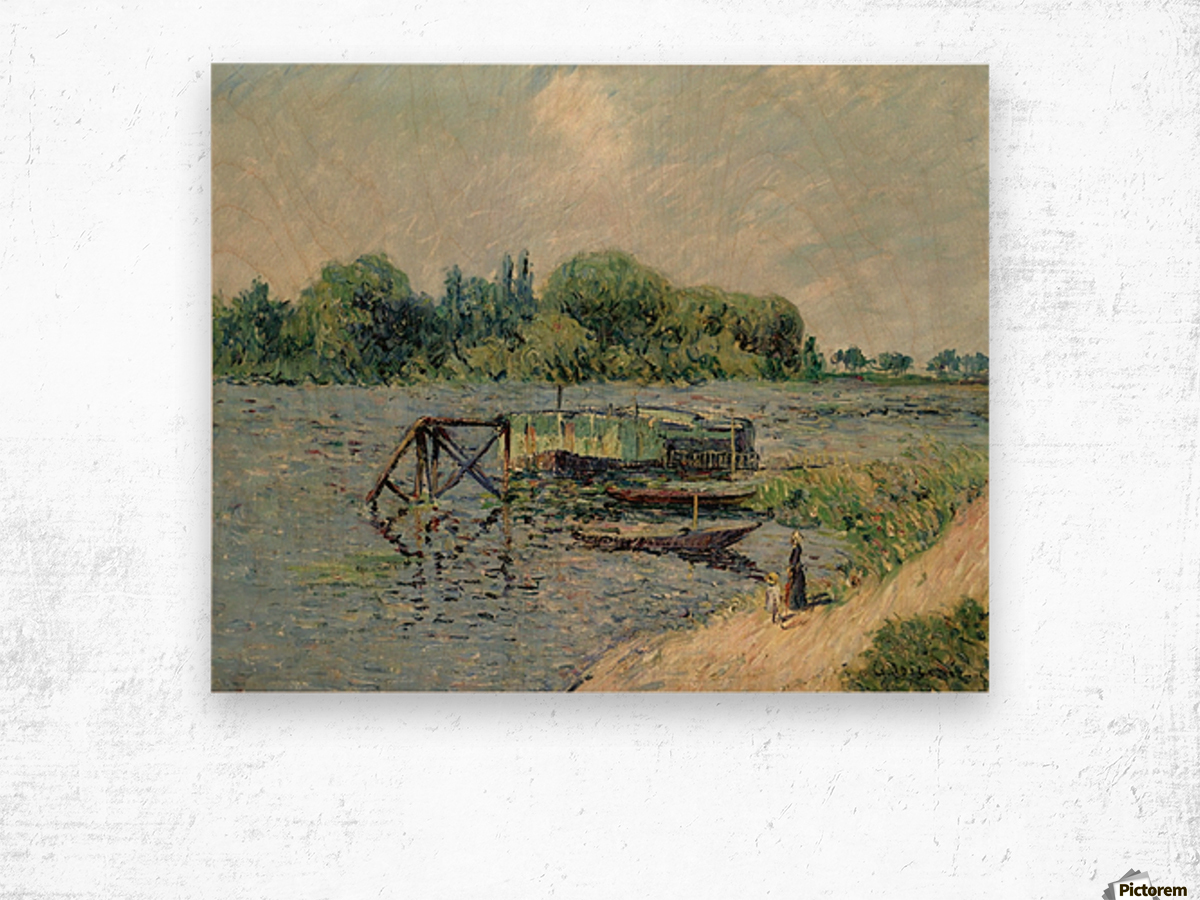 Laun Place on the Seine at Herblay Wood print