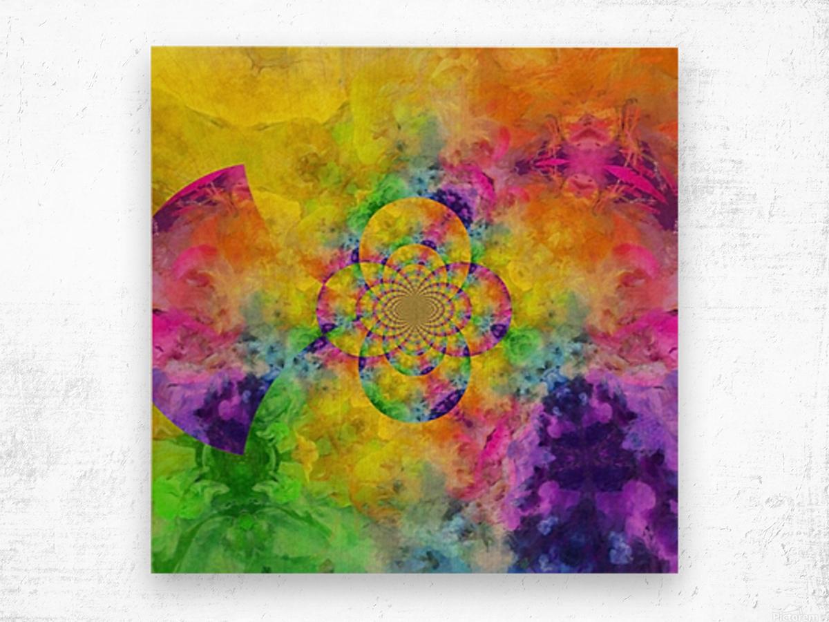 Colorful Fractal Wood print