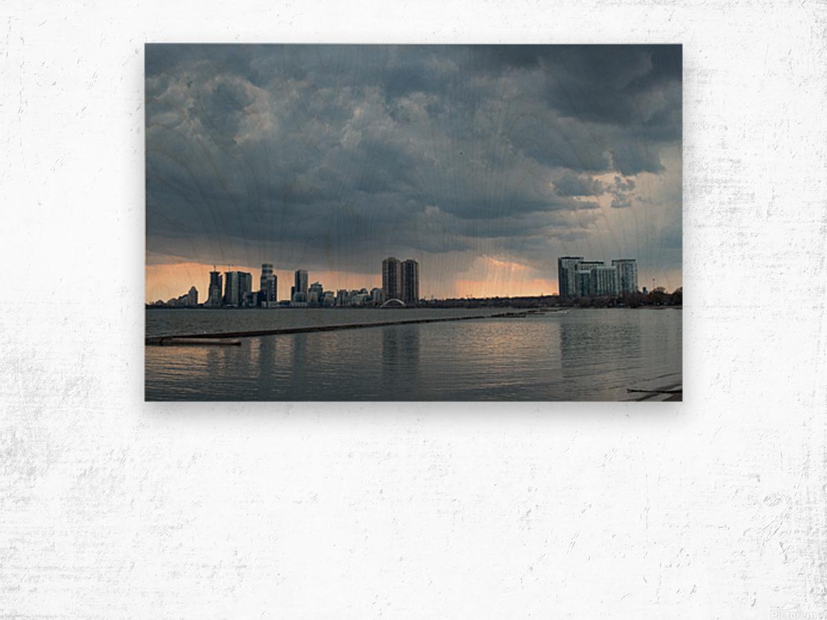 City at Ontario Lake Wood print