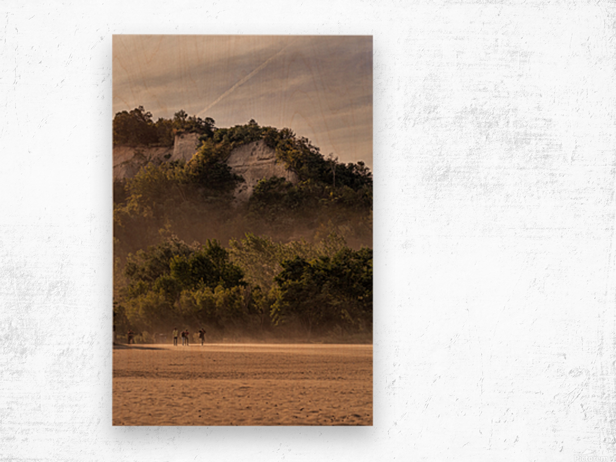 Hot day at the Bluffs Wood print