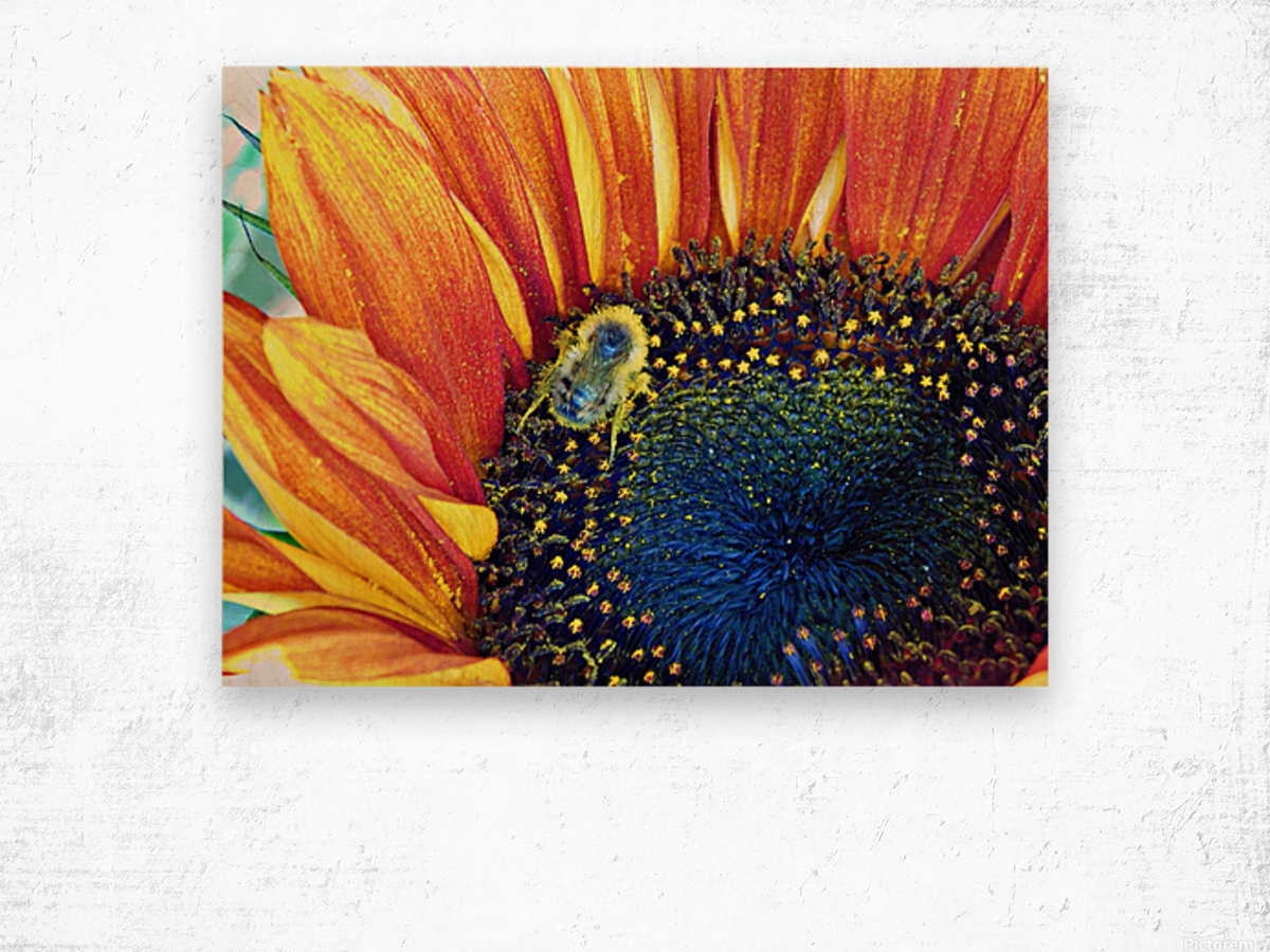 bee happy Wood print