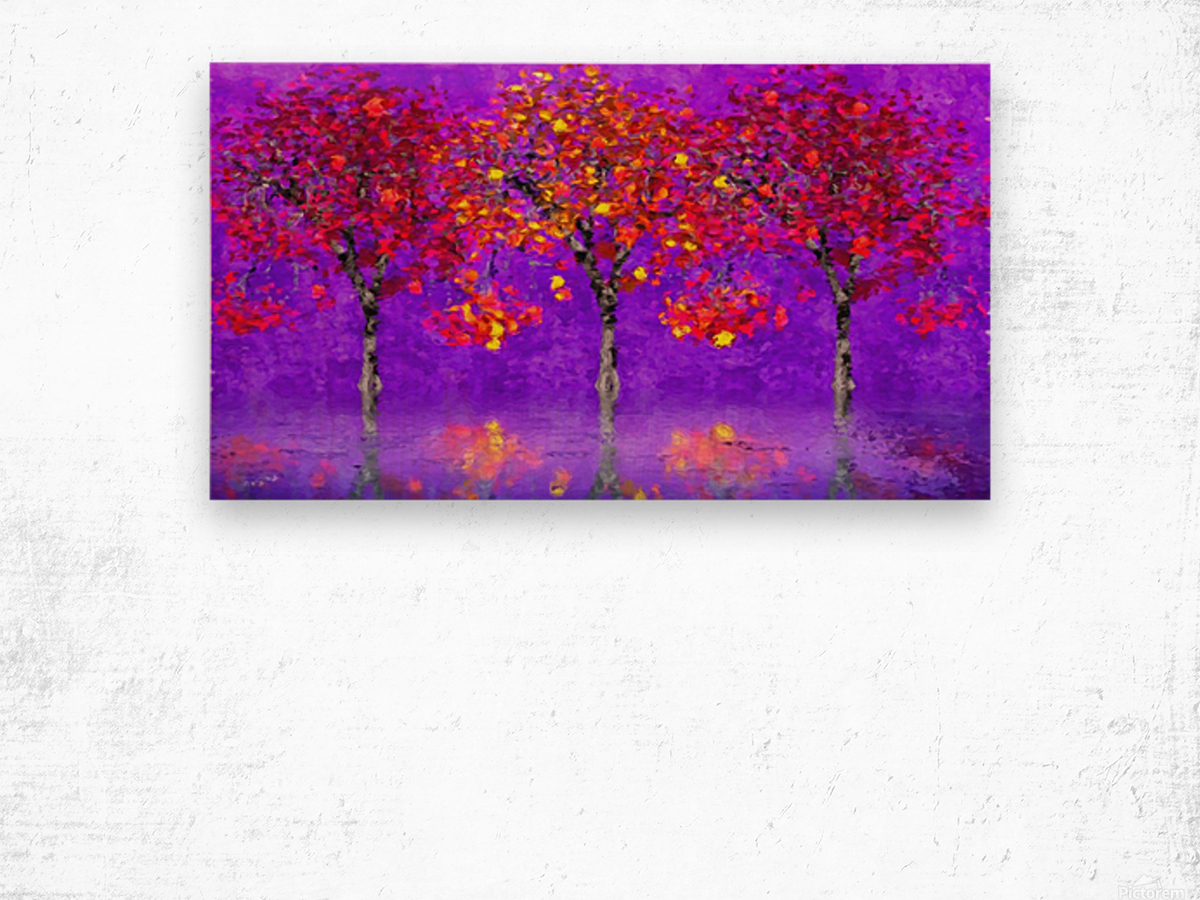 When autumn leaves start to fall Wood print