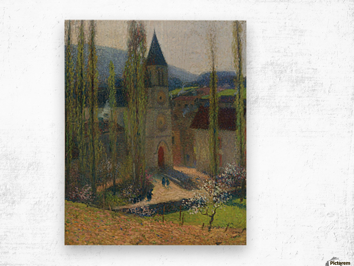 The Church of Labastide-du-Vert, Late Afternoon Wood print