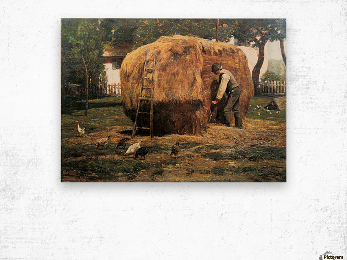 The Barnyard by Hassam Wood print