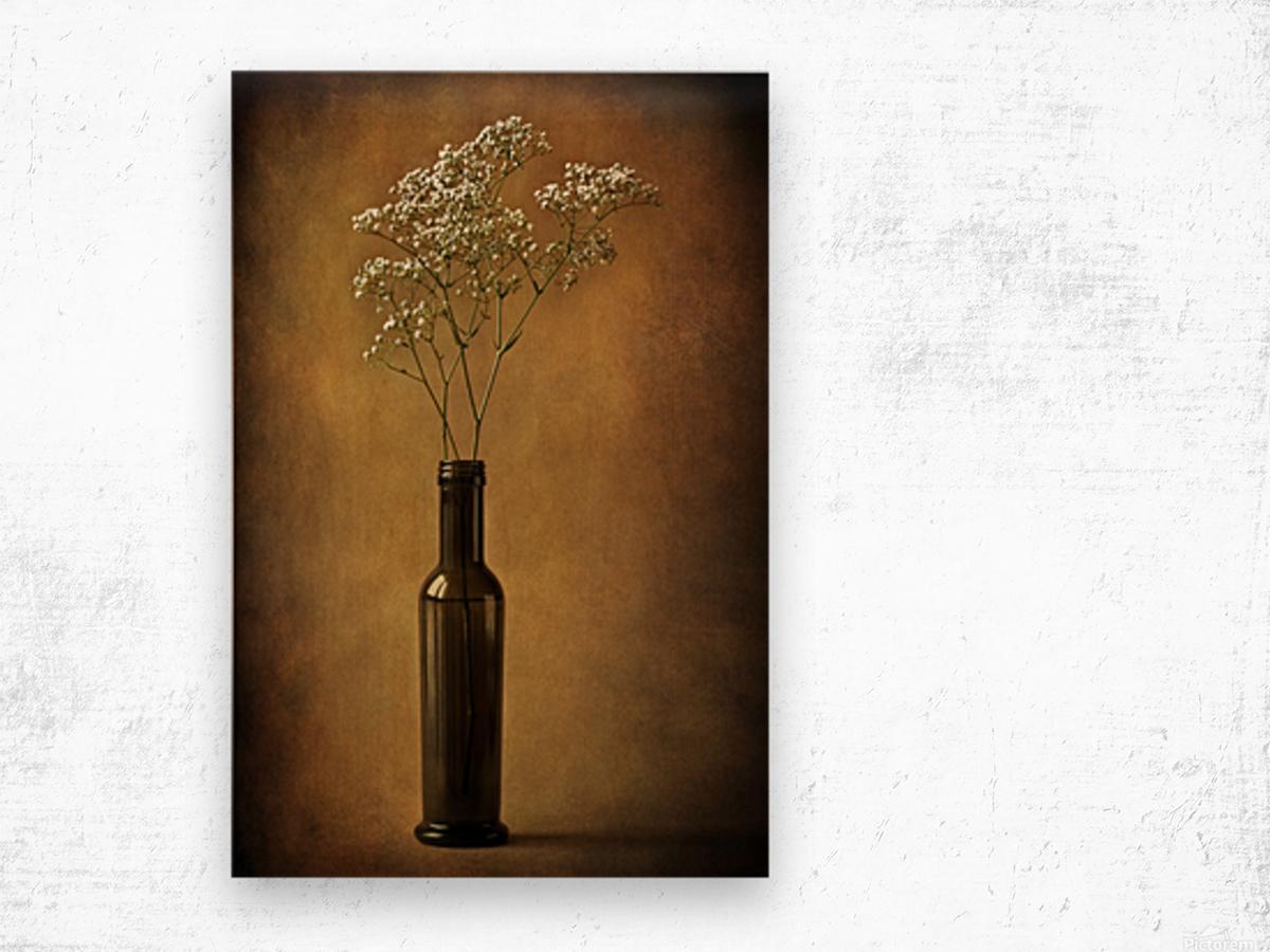 The olive oil bottle Wood print