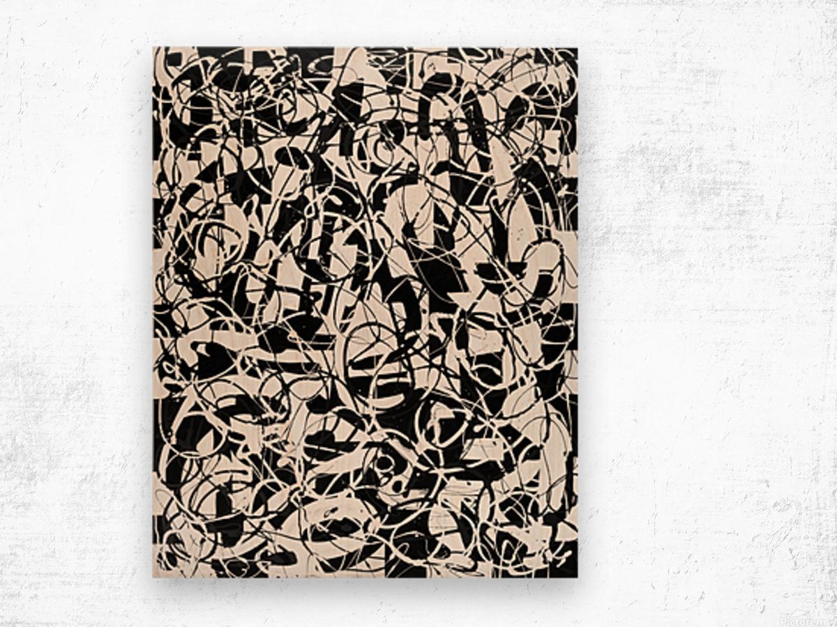 Convergence Wood print