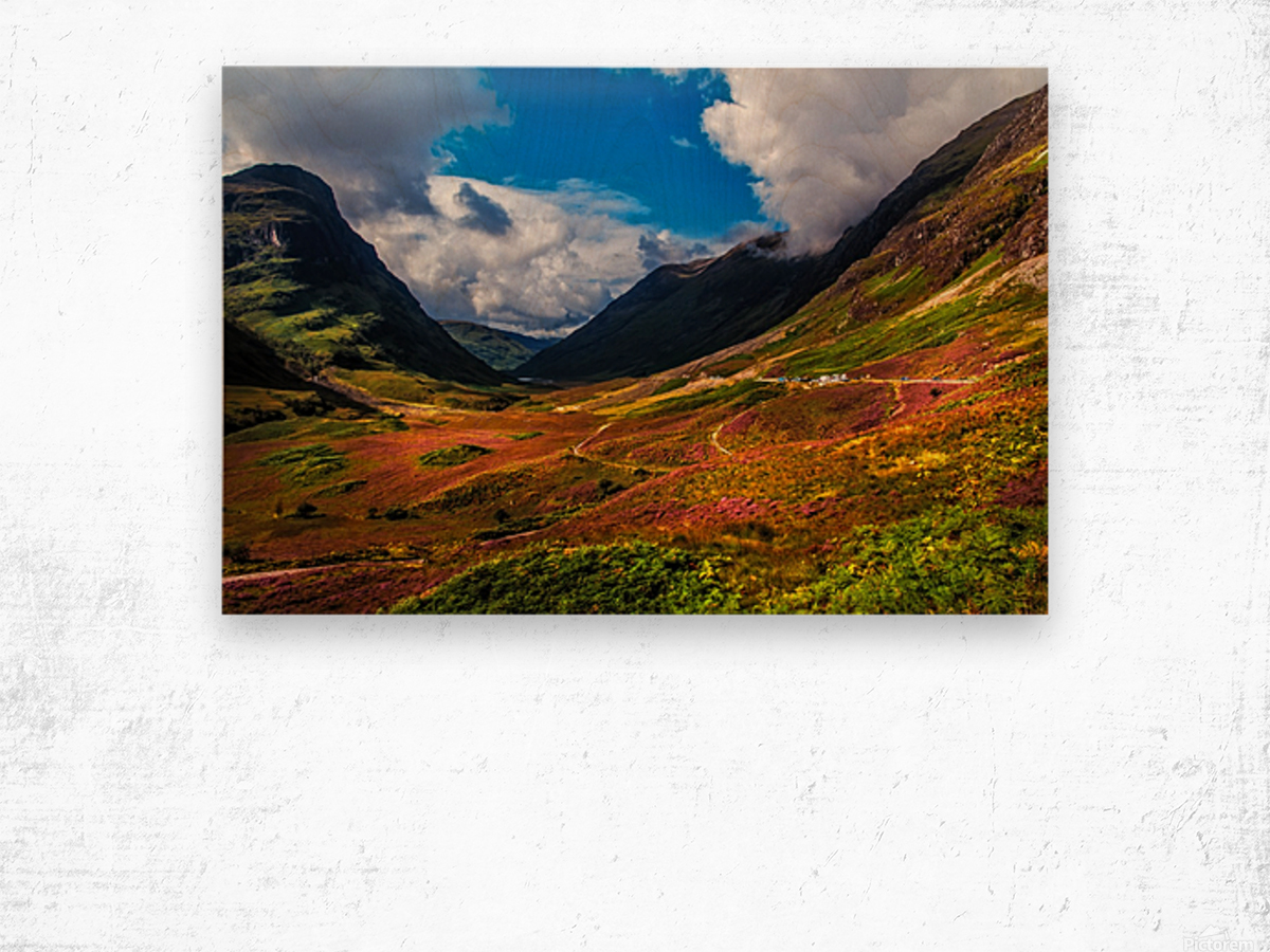 The Valley of Three Sisters. Glencoe. Scotland Wood print