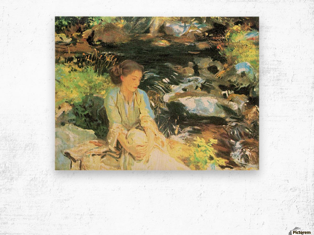 The black creek by John Singer Sargent Wood print