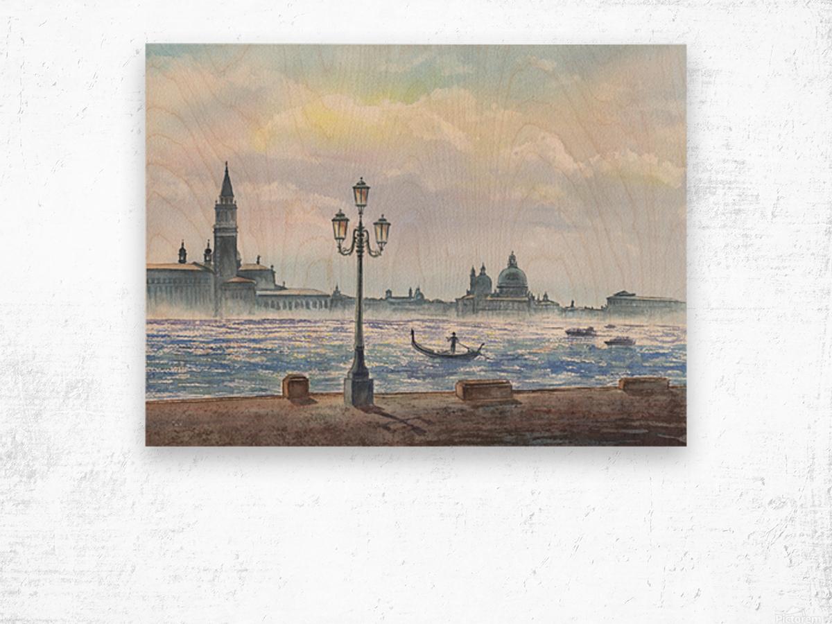 Basilica Di San Giorgio Maggiore And Santa Maria Della Salute Venice Italy Wood print