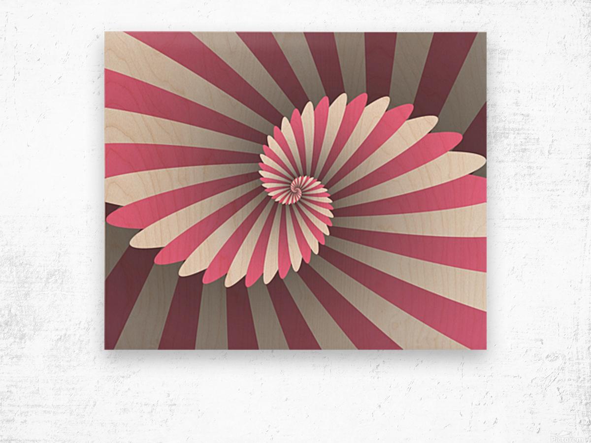 Swiggy Spiral Wood print