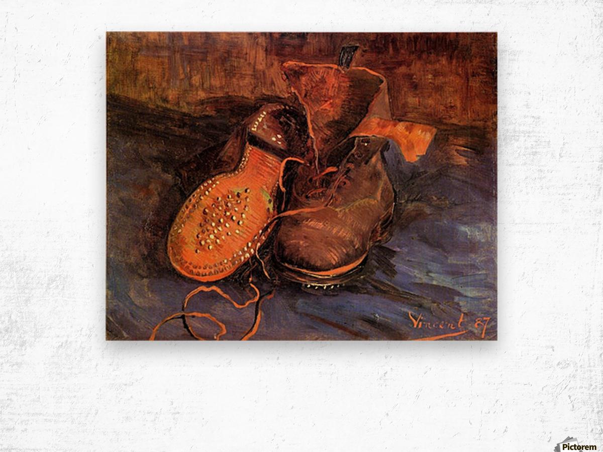 A Pair of Shoes4 by Van Gogh Wood print